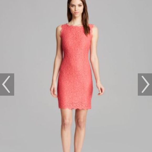 6ae458c10475 Adrianna Papell Dresses | Sleeveless Coral Lace Dress S 12 | Poshmark
